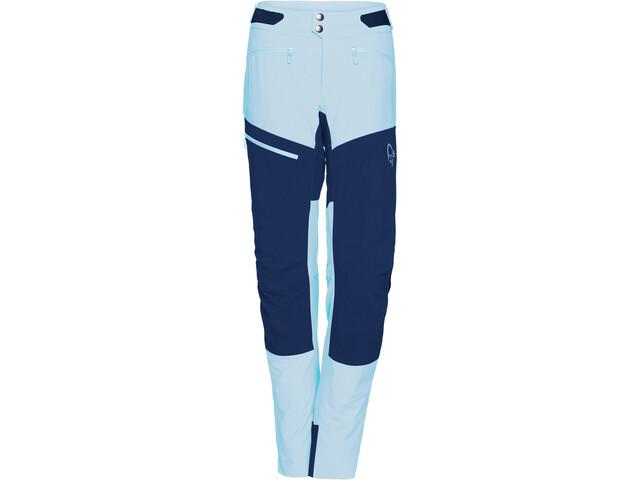 Norrøna Fjørå Flex1 Pantalon Femme, trick blue/indigo night